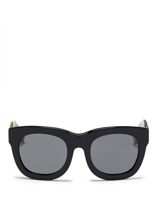 Main View - Click To Enlarge - 3.1 Phillip Lim - Cheetah print temple acetate sunglasses