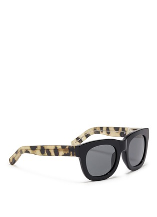Figure View - Click To Enlarge - 3.1 Phillip Lim - Cheetah print temple acetate sunglasses