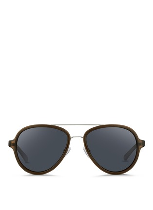 Main View - Click To Enlarge - 3.1 Phillip Lim - Wire rim acetate aviator sunglasses