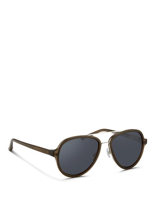 Figure View - Click To Enlarge - 3.1 Phillip Lim - Wire rim acetate aviator sunglasses