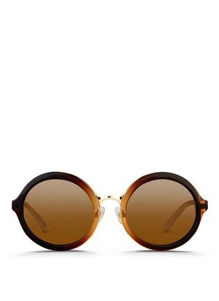 Main View - Click To Enlarge - 3.1 Phillip Lim - Layered gradient acetate round sunglasses