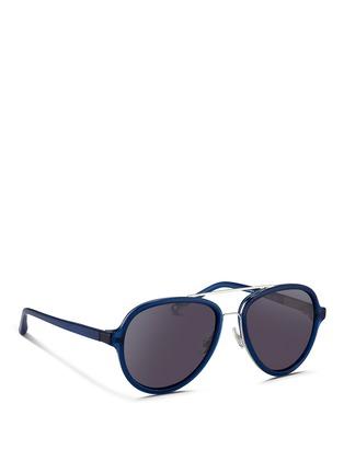 Figure View - Click To Enlarge - 3.1 PHILLIP LIM - Wire rim acetate aviator sunglasses