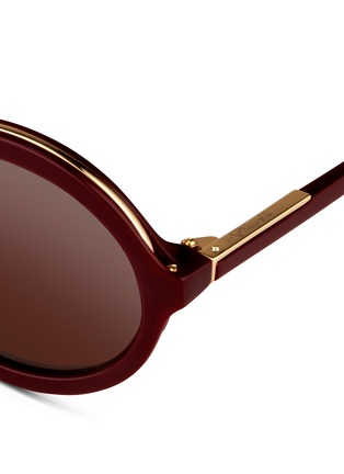 Detail View - Click To Enlarge - 3.1 Phillip Lim - Layered acetate round sunglasses