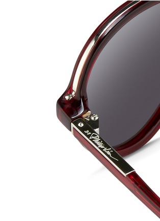 Detail View - Click To Enlarge - 3.1 Phillip Lim - Wire rim acetate aviator sunglasses