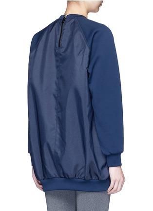 Back View - Click To Enlarge - NO KA'OI - 'Wela' faux fur panelled sweatshirt