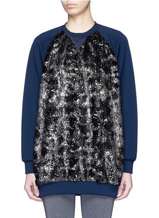 Main View - Click To Enlarge - NO KA'OI - 'Wela' faux fur panelled sweatshirt