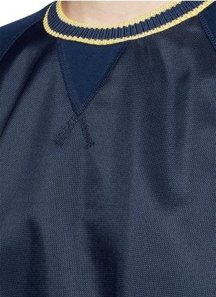 Detail View - Click To Enlarge - No Ka'Oi - 'Wili' stripe knit trim raglan sweatshirt