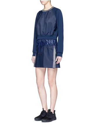 Figure View - Click To Enlarge - NO KA'OI - 'Alika' faux fur pleated drawstring skirt