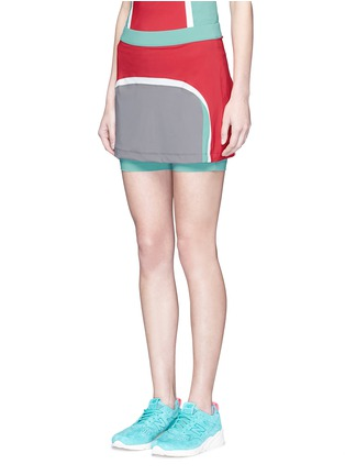 Front View - Click To Enlarge - No Ka'Oi - 'Aina' colourblock performance skort