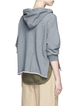Back View - Click To Enlarge - 3.1 Phillip Lim - Twill panel French terry utility sweatshirt