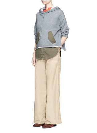 Figure View - Click To Enlarge - 3.1 Phillip Lim - Twill panel French terry utility sweatshirt