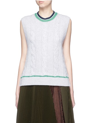Main View - Click To Enlarge - 3.1 Phillip Lim - Collegiate sleeveless knit tank top