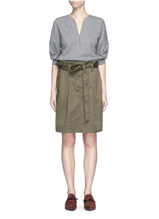 Main View - Click To Enlarge - 3.1 PHILLIP LIM - French terry twill combo belted utility dress