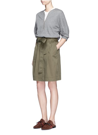 Figure View - Click To Enlarge - 3.1 PHILLIP LIM - French terry twill combo belted utility dress