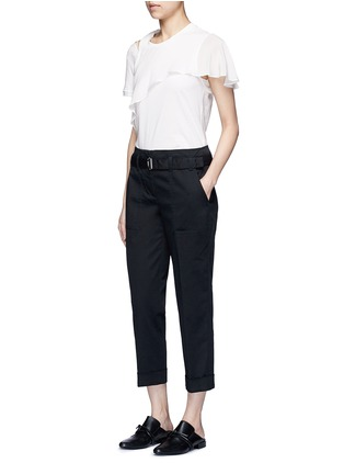 Figure View - Click To Enlarge - 3.1 PHILLIP LIM - Ruffle overlay cutout T-shirt