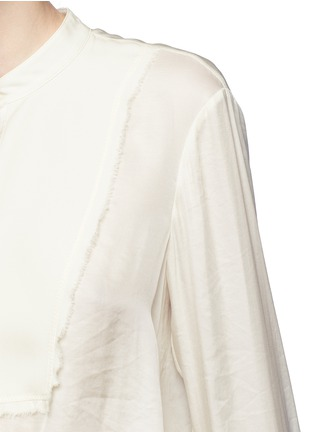 Detail View - Click To Enlarge - 3.1 Phillip Lim - Fringed drape front top