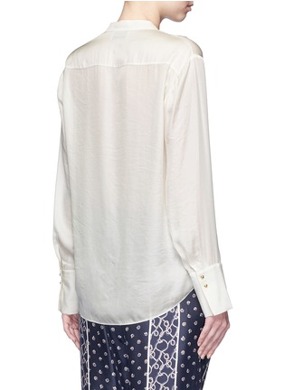 Back View - Click To Enlarge - 3.1 Phillip Lim - Fringed drape front top