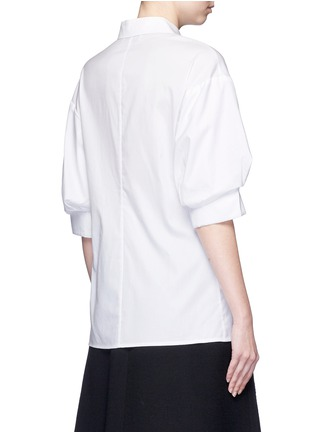 Back View - Click To Enlarge - 3.1 Phillip Lim - Ruched sleeve cotton poplin shirt