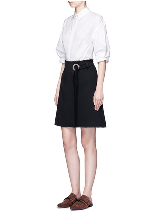 Figure View - Click To Enlarge - 3.1 Phillip Lim - Ruched sleeve cotton poplin shirt