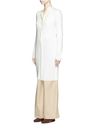 Front View - Click To Enlarge - 3.1 Phillip Lim - Rib knit wool blend cardigan