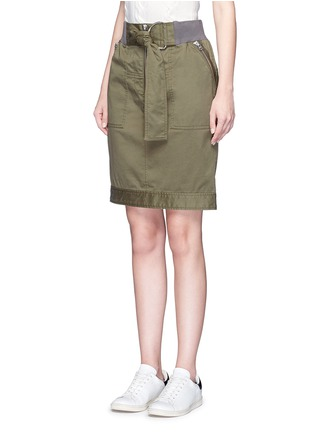 Front View - Click To Enlarge - 3.1 Phillip Lim - Twill belted utility skirt