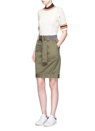 Figure View - Click To Enlarge - 3.1 Phillip Lim - Twill belted utility skirt