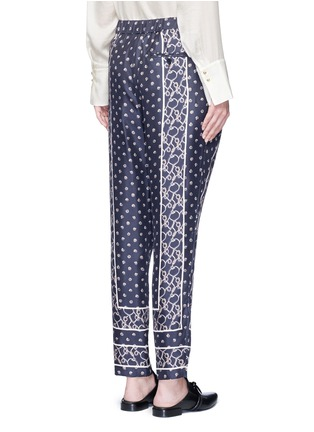 Back View - Click To Enlarge - 3.1 Phillip Lim - Friendship knot scarf print drape pants