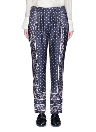Main View - Click To Enlarge - 3.1 Phillip Lim - Friendship knot scarf print drape pants