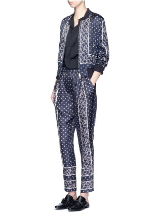 Figure View - Click To Enlarge - 3.1 Phillip Lim - Friendship knot foulard print satin bomber jacket