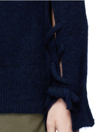 Detail View - Click To Enlarge - 3.1 Phillip Lim - Knotted back wool blend sweater