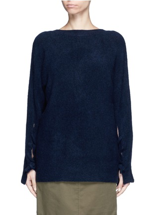 Main View - Click To Enlarge - 3.1 Phillip Lim - Knotted back wool blend sweater