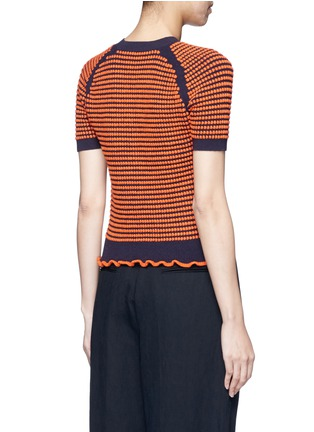 Back View - Click To Enlarge - 3.1 Phillip Lim - Polka dot bouclé ruffle knit top