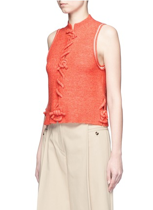 Front View - Click To Enlarge - 3.1 Phillip Lim - Knot front sleeveless knit top