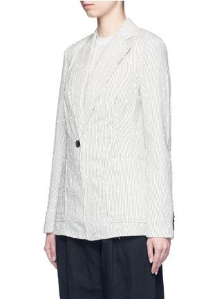 Front View - Click To Enlarge - 3.1 Phillip Lim - Stripe bouclé soft blazer
