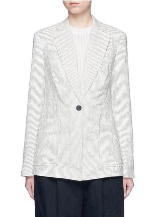 Main View - Click To Enlarge - 3.1 Phillip Lim - Stripe bouclé soft blazer