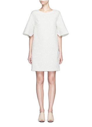 Main View - Click To Enlarge - 3.1 Phillip Lim - Flared sleeve stripe bouclé dress