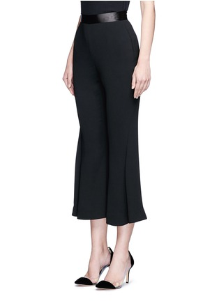 Front View - Click To Enlarge - Nicholas - Satin waistband crepe cropped flared pants