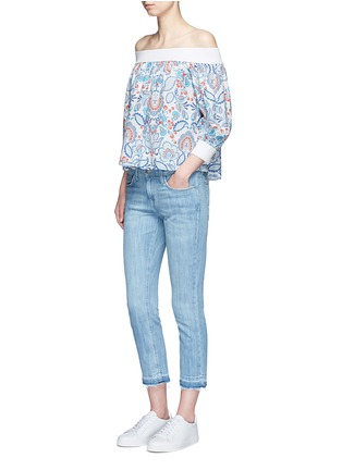 Figure View - Click To Enlarge - Nicholas - Off-shoulder floral paisley print top