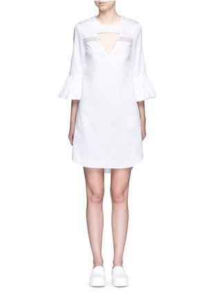 Main View - Click To Enlarge - 72723 - 'Lola' mesh insert cutout dress