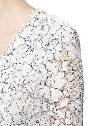 Detail View - Click To Enlarge - Nicholas - Floral lace flare dress