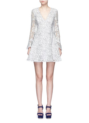Main View - Click To Enlarge - Nicholas - Floral lace flare dress