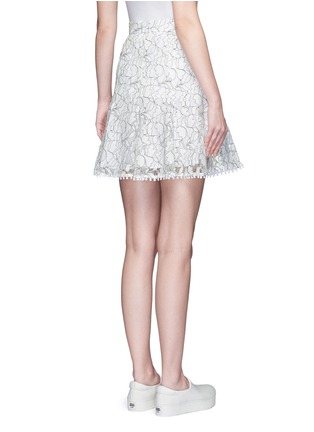 Back View - Click To Enlarge - Nicholas - Floral lace flare skirt