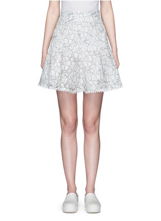Main View - Click To Enlarge - Nicholas - Floral lace flare skirt