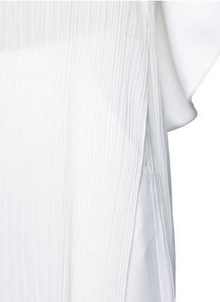 Detail View - Click To Enlarge - Nicholas - Off-shoulder plissé pleat drape back tunic