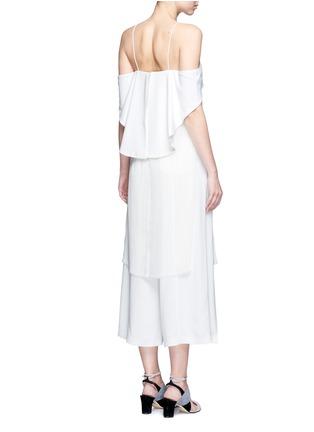 Back View - Click To Enlarge - Nicholas - Off-shoulder plissé pleat drape back tunic