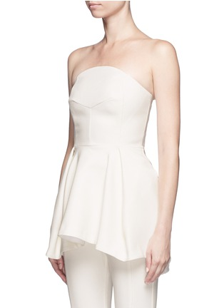 Front View - Click To Enlarge - Nicholas - Crepe strapless flare top
