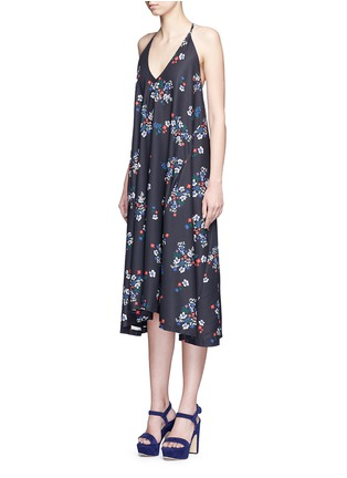 Front View - Click To Enlarge - Nicholas - 'Posie' floral print strappy midi dress