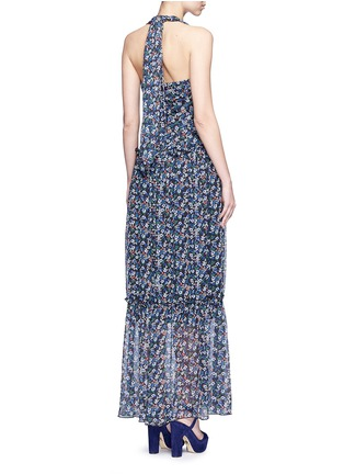 Back View - Click To Enlarge - Nicholas - 'Posie' floral print halterneck tiered maxi dress