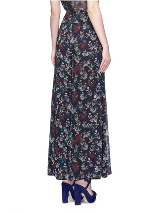 Back View - Click To Enlarge - 72723 - Garden floral print silk palazzo pants