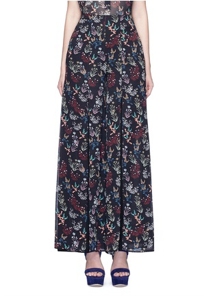 Main View - Click To Enlarge - 72723 - Garden floral print silk palazzo pants